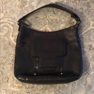 Late Spade black leather shoulder bag.